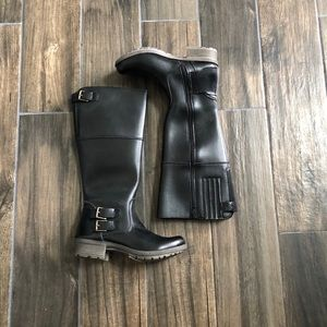Clarks Riddle Phrase Boots Knee High Comfort 6.5